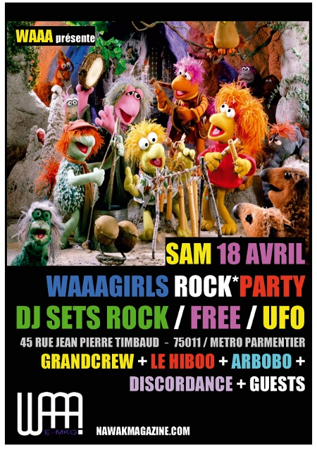 WAAAgirls rock party, feat. arbobo (samedi 18)