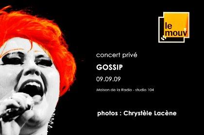 the Gossip live : I like to Mouv' it ^^