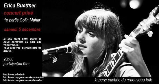 Concert privé d'Erica Buettner (05/12): gagnez votre place !