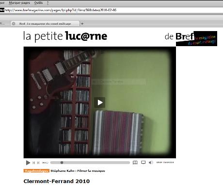 """Filmer la musique, avec """"La petite lucarne"""" de Bref"""