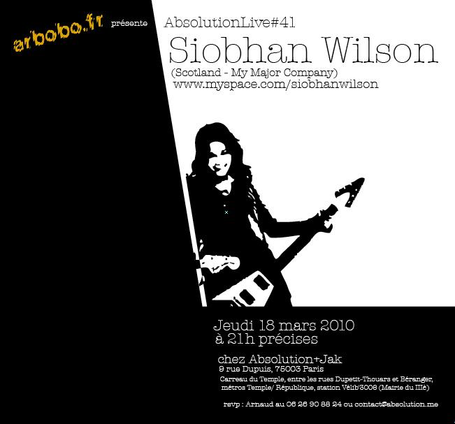 Siobhan Wilson en showcase chez JAK