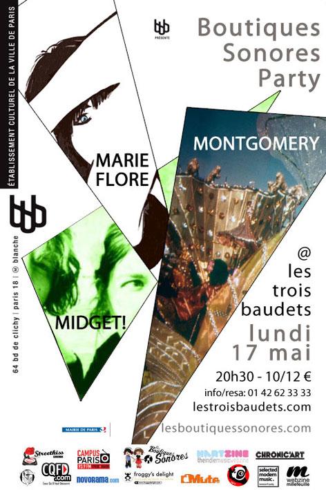 Lundi 17 aux 3 Baudets : Montgomery & Marie-Flore