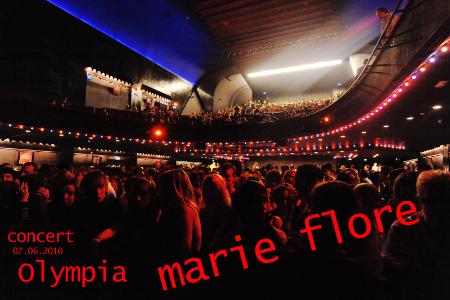 Marie-Flore backstage à l'Olympia