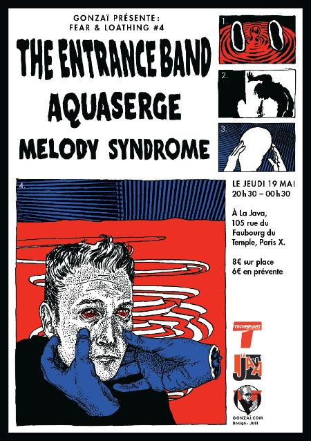 Gonzai t'invite : 2 places pour jeudi 19 à la Java (Aquaserge, enrtance band, melody syndrome)