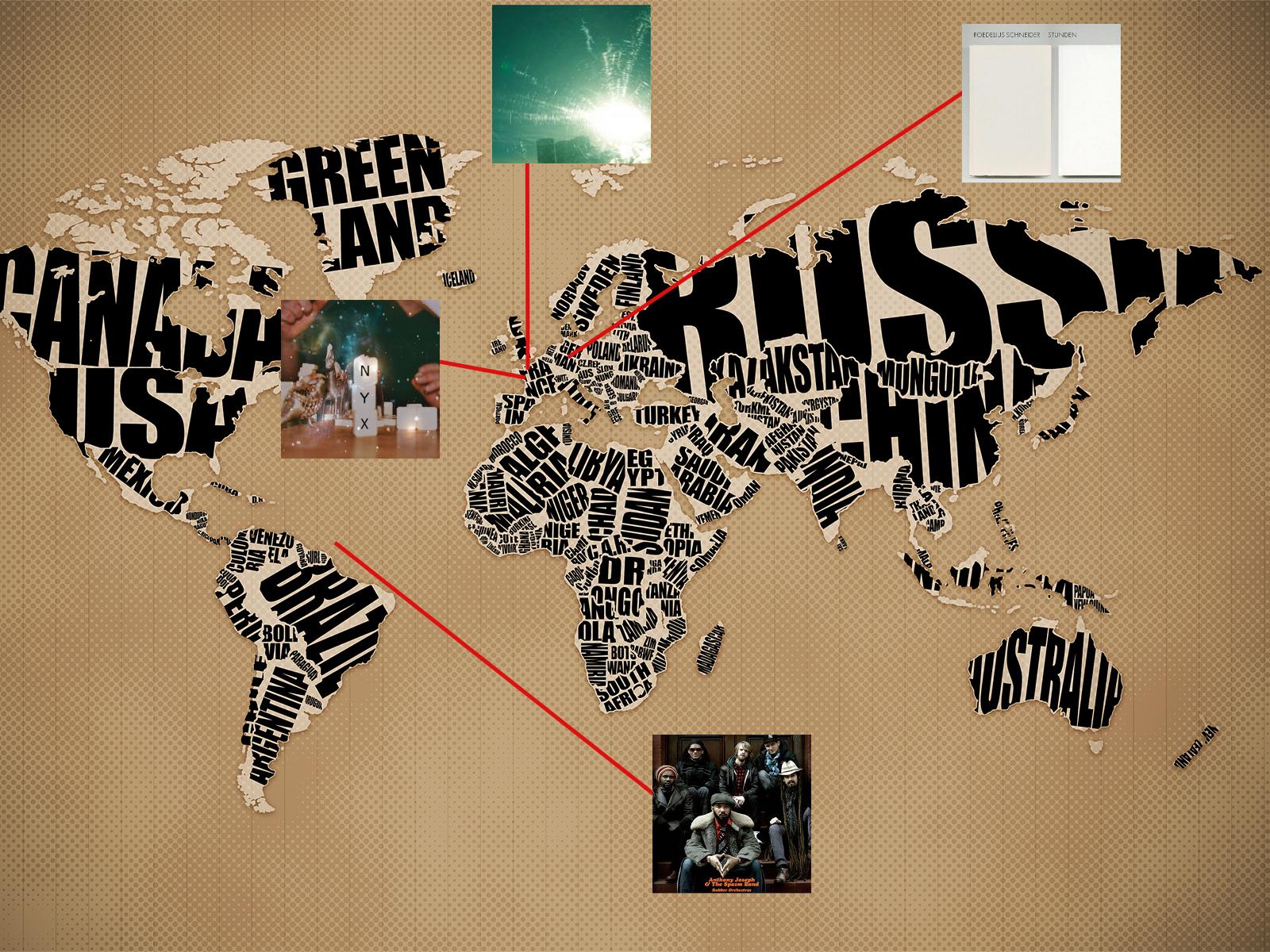 Une année 2011 (2) : carré gagnant et carte du monde habité