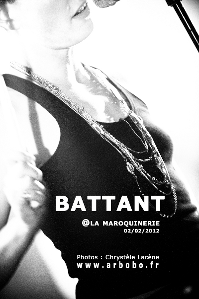 Battant + The eyes in the heat, la Maroquinerie, 02/02/2012